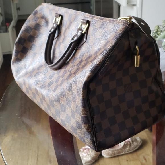 85f4bb9a42b Louis Vuitton Handbags - Louis Vuitton Speedy 35 Damier Ebene